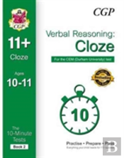 10-Minute Tests For 11+ Verbal Reasoning: Cloze Ages 10-11 - Cem Test