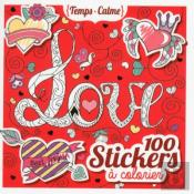 100 Stickers A Colorier - Love
