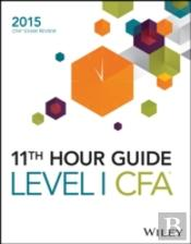 11th Hour Guide For 2015 Level I Book Cfa Exam