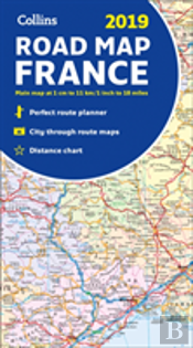 2019 Collins Map Of France
