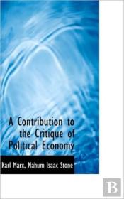 A Contribution To The Critique Of Politi