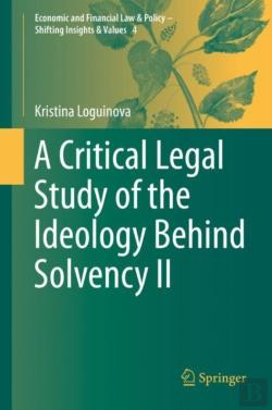 Bertrand.pt - A Critical Legal Study Of The Ideology Behind Solvency Ii