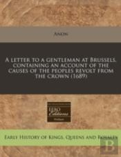 A Letter To A Gentleman At Brussels, Con