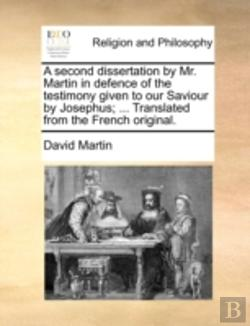 Bertrand.pt - A Second Dissertation By Mr. Martin In D