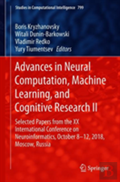 Advances In Neural Computation, Machine Learning, And Cognitive Research Ii