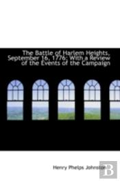Battle Of Harlem Heights, September 16, 1776