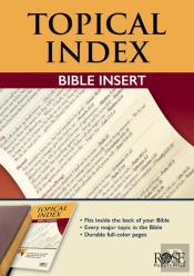Book: Topical Bible Index Insert