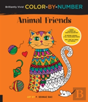 Brilliantly Vivid Color-By-Number: Animal Friends