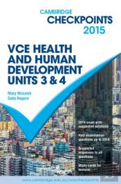 Cambridge Checkpoints Vce Health And Human Development Units 3 And 4 2015