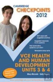 Cambridge Checkpoints Vce Health And Human Development Units 3&4 2012
