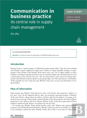 Case Study: Communication In Business Practice