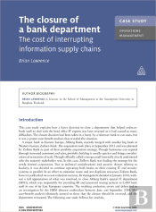 Case Study: The Closure Of A Bank Department