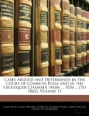 Cases Argued And Determined In The Court