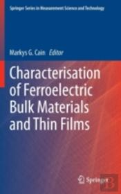 Characterisation Of Ferroelectric Thin F