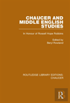 Chaucer And Middle English Studies