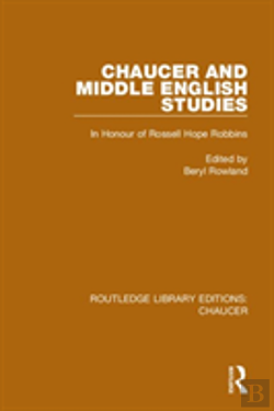 Bertrand.pt - Chaucer And Middle English Studies