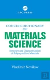 Concise Dictionary Of Materials Science