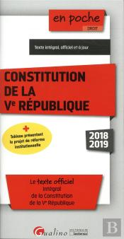 Constitution De La Ve Republique - 10eme Edition