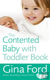 Contented Baby With Toddler Book