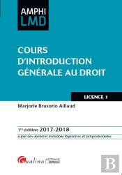 Cours D'Introduction Generale Au Droit