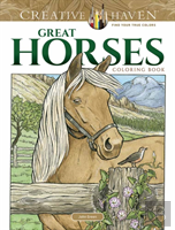 Creative Haven Great Horses Coloring Book