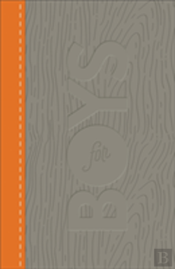 Bertrand.pt - Csb Study Bible For Boys Charcoal/Orange, Wood Design Leathertouch