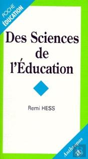 Des Sciences De L'Education