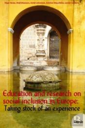 Education and Research on Social Inclusion in Europe