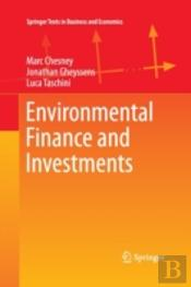 Environmental Finance And Investments