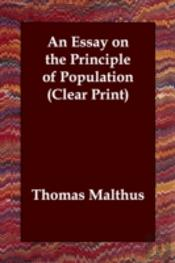 Essay On The Principle Of Population (Clear Print)