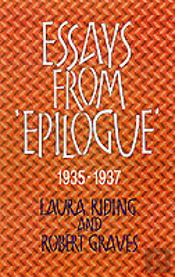 Essays From 'Epilogue', 1935-1937