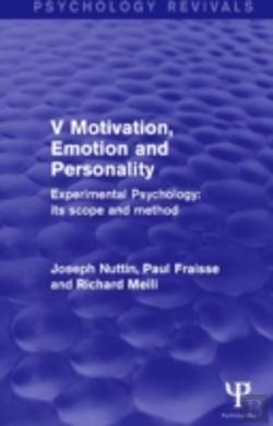 Bertrand.pt - Experimental Psychology Its Scope And Method: Volume V (Psychology Revivals)
