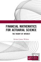 Financial Mathematics For Actuarial Science