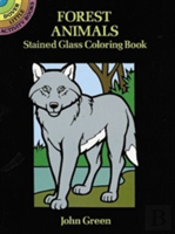 Forest Animals Stained Glass Colouring Book
