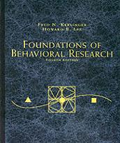 Foundations Of Behavioural Research