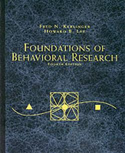 Bertrand.pt - Foundations Of Behavioural Research