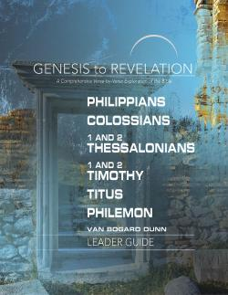 Bertrand.pt - Genesis To Revelation: Philippians, Colossians, 1 And 2 Thessalonians, 1 And 2 Timothy, Titus, Philemon Leader Guide