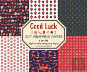 Good Luck Gift Wrapping Papers - 6 Sheets