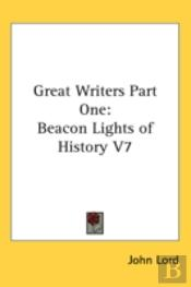Great Writers Part One