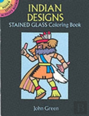 Indian Designs Stained Glass Colouring Book