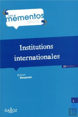 Bertrand.pt - Institutions Internationales (Édition 2018)