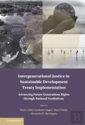 Intergenerational Justice In Sustainable Development Treaty Implementation