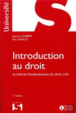 Bertrand.pt - Introduction Au Droit Et Themes Fondamentaux Du Droit Civil - 17<Sup>E</Sup> Ed.