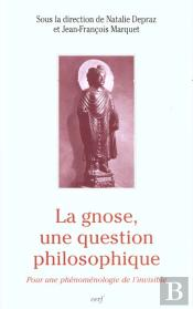 La Gnose Une Question Philosophique ; La Phenomenologie De L'Invisible