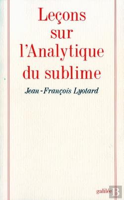 Bertrand.pt - Lecons Sur L'Analytique Du Sublime