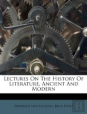 Lectures On The History Of Literature, A