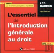 L'Essentiel De L'Introduction Generale Au Droit 13eme Edition
