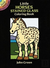 Little Horses Stained Glass Colouring Book