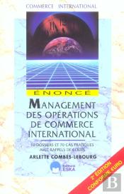 Management Des Operations De Commerce International ; Enonce