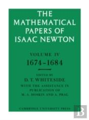 Mathematical Papers Of Isaac Newton1674-1684